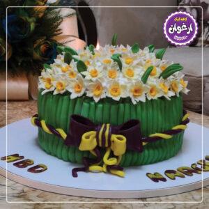 کیک دسته گل نرگس