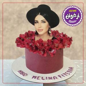 کیک تصویری دخترانه