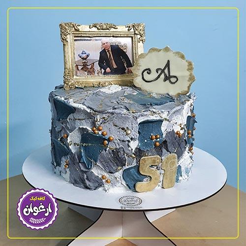 کیک مدرن خامه ای